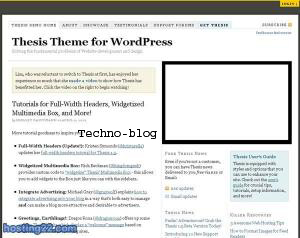 Thesis 2: The missing design and template manager for WordPress